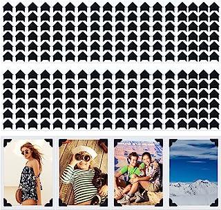 Pajean 720 Pieces Photo Corners Self Adhesive Black Photo Corners for Scrapbooking and Stamping Supplies DIY Scrapbook Sti...