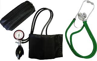 Tensiómetro–Tensiómetro brazo oro 2+ Rappaport–Estetoscopio doble manguera verde de doble cabezal Tiga Med K 2II Calidad