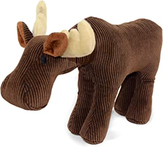 Martha Stewart Corduroy Moose Bonded Mesh Dog Toy for Moderate Chewers