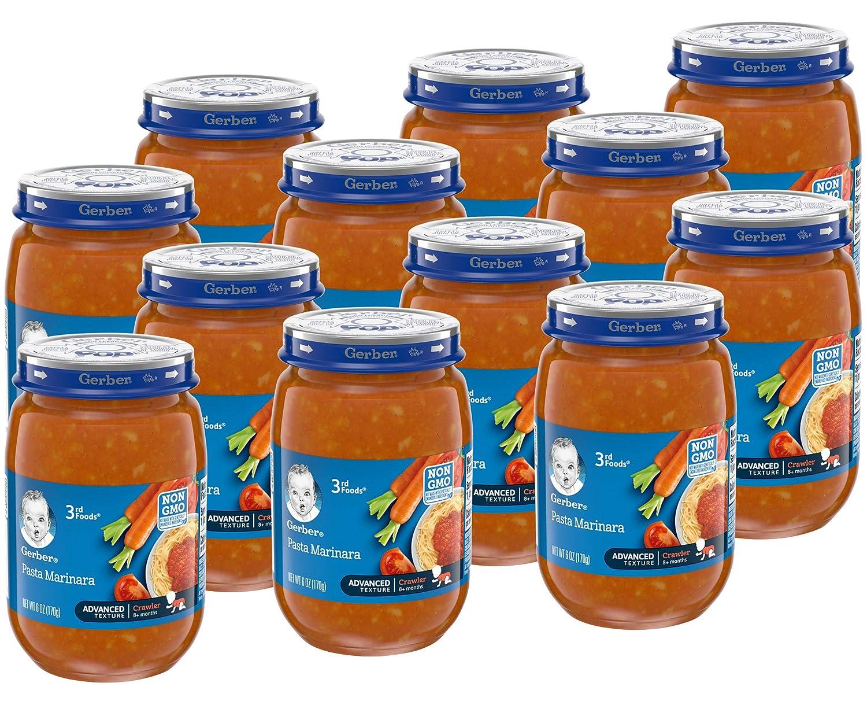 Gerber Purees 3rd Foods Pasta Marinara, 6 Oz