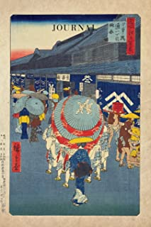 Journal: Ukiyo e Painting Geishas With Umbrellas - Traditional Japanese Woodblock Prints | 120 Blank Lined 6x9 College Ruled Pages | Journal, ... Notebooks and Journals - Ukiyo-e) (Volume 3)