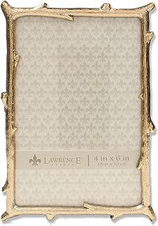 Lawrence Frames 4x6 Gold Metal Natural Branch Design Picture Frame