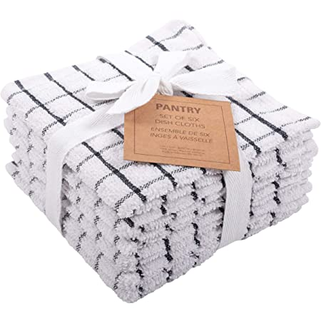 100/% RICH COTTON Terry Tea Towel Set Kitchen Dish Cloths Washing Up Drying 8Pc