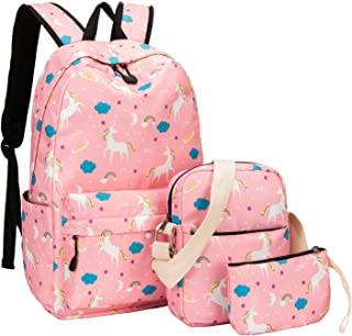 School Backpacks for Teen Girls Bookbags Lightweight Canvas Backpack Schoolbag Set
