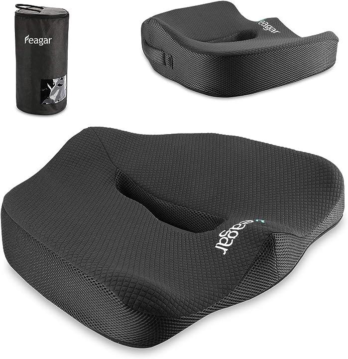 Cuscino per seduta memory foam (black) feagar B0978THJK9