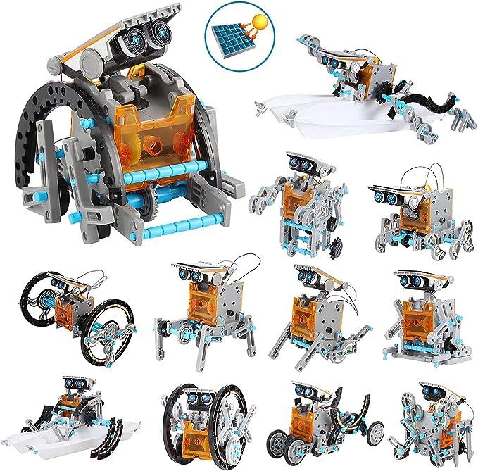 TALLA 12 en 1. OFUN Juguete Robot Stem para niños, 12 in 1 Robots Kit de Ciencia Divertido Juego Creativo y DIY Juguetes, Manualidades Regalos para niños de 8 a 12 años