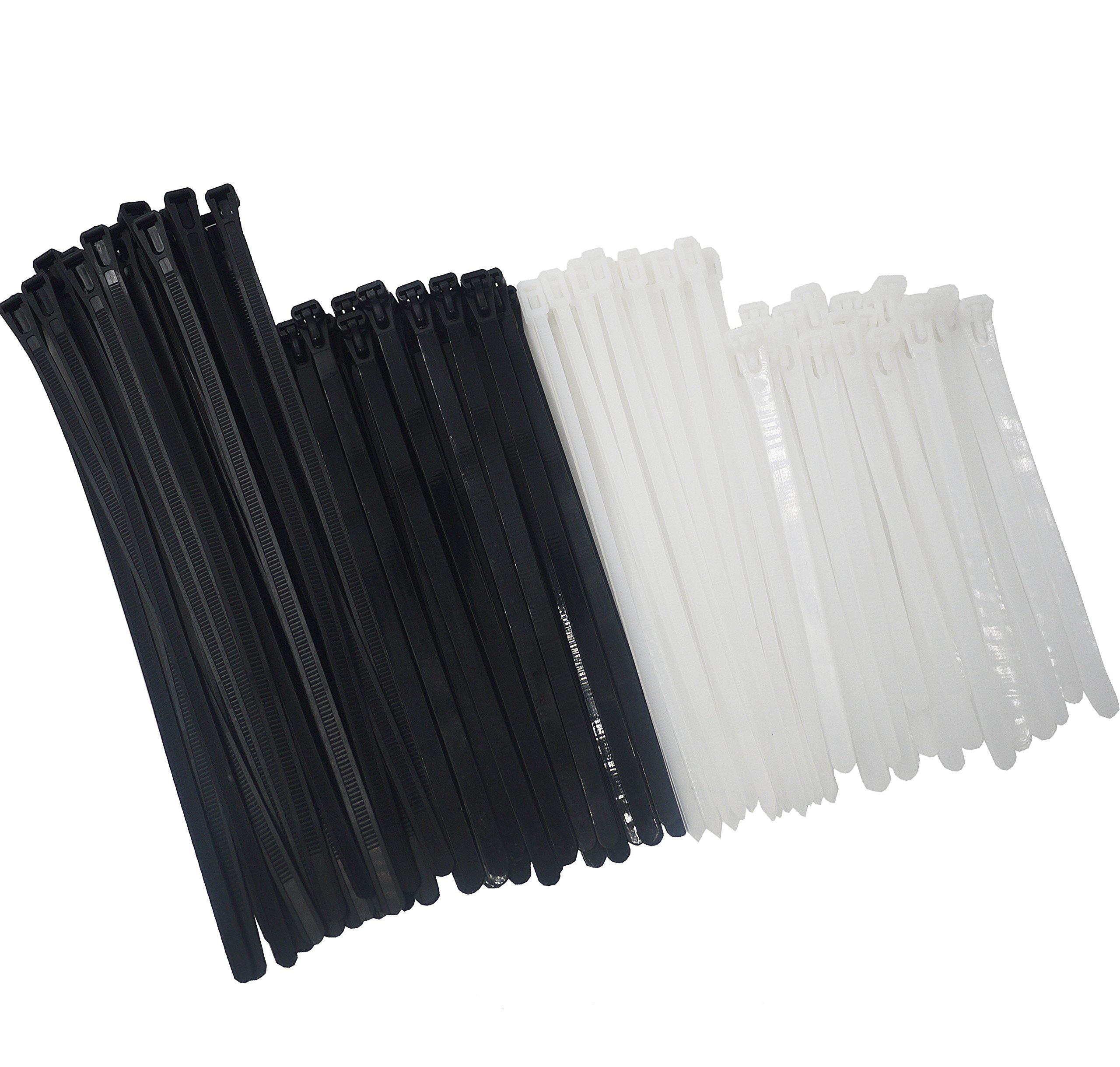 "Plastic Cable Zip Ties Heavy Duty Nylon Wrap Wire 100pcs  4/"" 8/"" 12/"" cable ties"