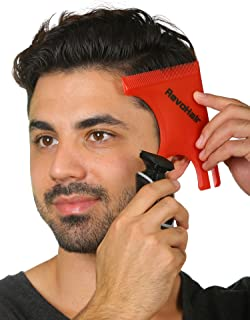 RevoHair Haircut Tool - Multi-Curve Hairline Template/Stencil/Guide For Men - Barber Supplies - Lightweight - With Hair & Beard Comb - Lineup & Edge up - Do it Yourself