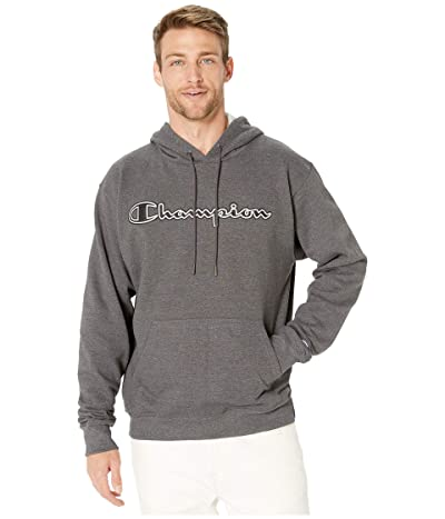 Champion Powerblend(r) Applique Hoodie (Granite Heather) Men