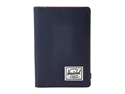 Herschel Supply Co. Raynor Passport Holder RFID (Navy/Red) Wallet Handbags