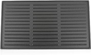 BBQ-Toro Gusseisen Grillplatte 44 x 24,5 cm | Wendeplatte, emailliert | beidseitig verwendbar | passend für BBQ, Gasgrill, Holzkohlegrill