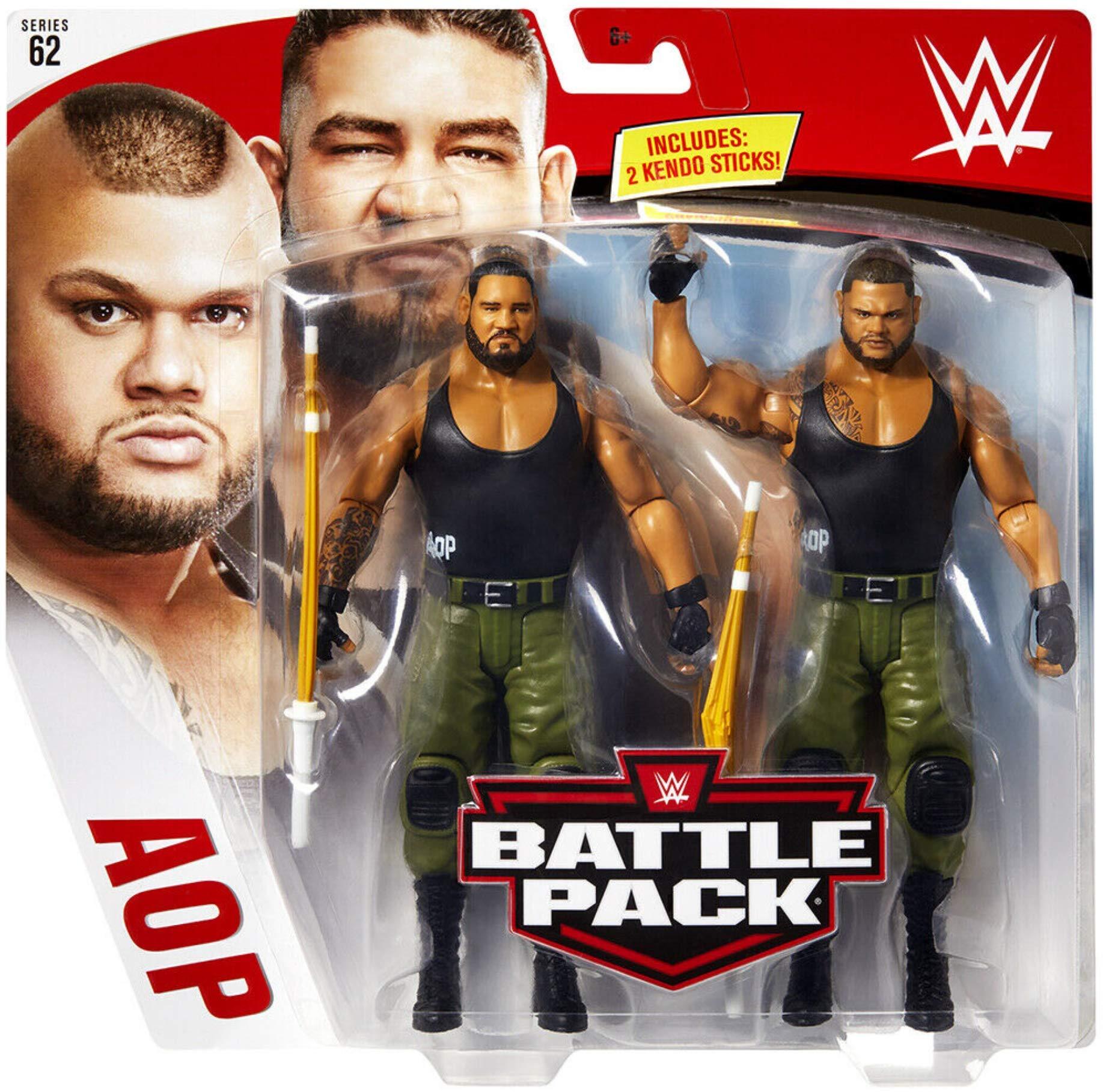 Akam & Rezar AOP los Autores de Dolor WWE Battle Pack Figura Básica Lucha Libre Mattel Serie 62: Amazon.es: Juguetes y juegos
