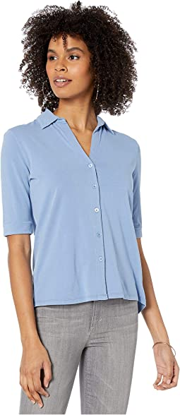 Cotton/Elastane Elbow Sleeve Shirt