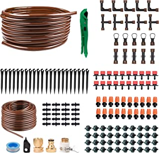perhonor Irrigation Fittings for 1//2 Irrigation Tubing-6 Tees 6 Couplings 3 Elbows 6 Tubing End Caps for Compatible Drip and Rain Bird or Plant Watering System 21PCS Set for Drip Irrigation Systems