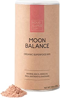 Your Super Moon Balance Superfood Mix - Natural Hormone Health, Reduce Mood Swings, PMS and Menopause - Organic Baobab, Ma...