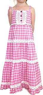 Best tiered gingham maxi dress Reviews