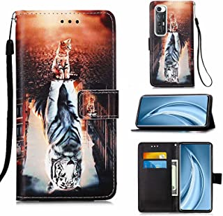 CRABOT Funda para Xiaomi Redmi K40 Cover Case Ranura para Tarjeta Billetera Patrón de en 3D Hebilla Magnética Cubierta Pro...