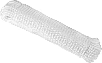 RAM-PRO 80 ft. Diamond Braid Polypropylene All Purpose Flagline Rope, High Strength, UV Resistant and Excellent Shock Abso...