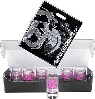 Ficken Gläser 6er Set geeicht Partyschnaps Glas inkl. Ficken Shopping Bag 0974