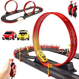 Best Choice Products Electric Slot Car Race Track Set Boy Kids Toy w/ 2 Battery Operated Cars, 2 Controllers, Customizable...