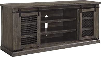 Ashley Furniture Signature Design - Danell Ridge Extra Large TV Stand - Sliding Barn Door - Brown