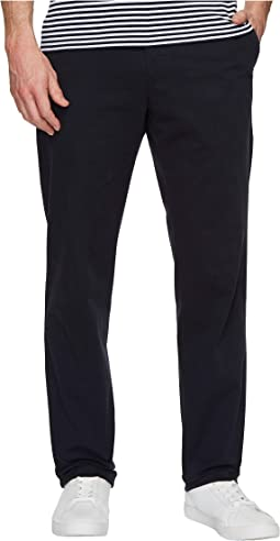 Slim Fit Garment Dyed Stretch Cotton Trousers