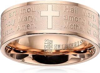 انگشتر نماز تگرگ مری با روکش طلای رز 18K ، سایز 8