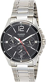 Casio Men's Black Dial Stainless Steel Analog Watch - MTP-1374D-1AVDF