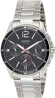 Casio #MTP1374D-1AV Men's Standard Metal Band Multi-Function Black Dial Watch