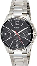 Casio Men's Dial Stainless Steel Band Watch - MTP-1374D-1AVDF