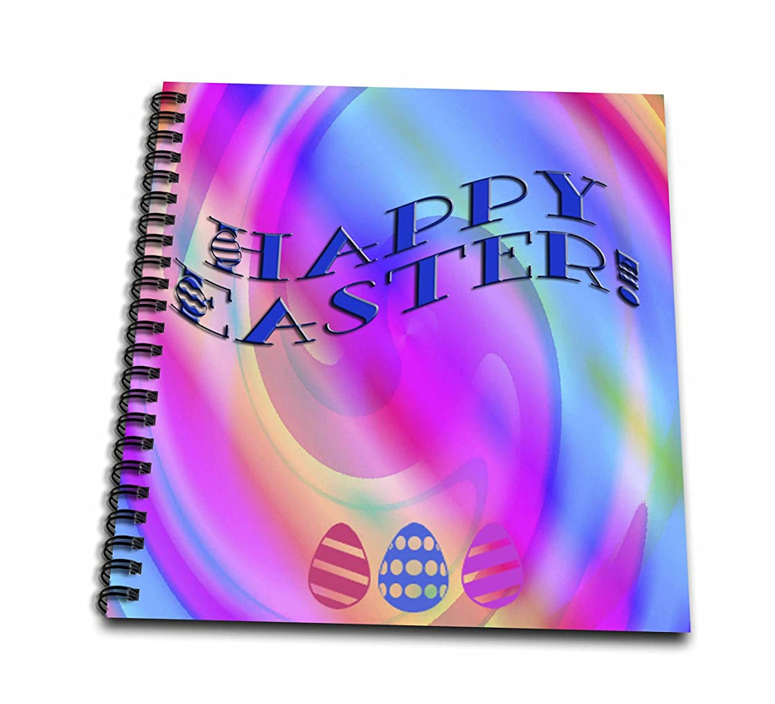3dRose db_42935_1 Happy Easter Pastel Abstract-Drawing Book, 8 by 8-Inch