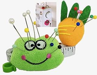 Pin Cushion for Sewing Machine Pin Holder 2pcs Needle Storage Organizer Frog