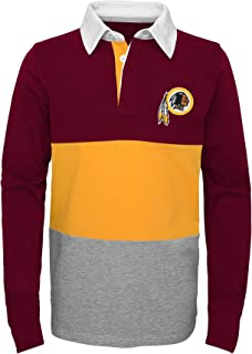 Outerstuff NFL Washington Redskins Youth Boys State of Mind Long Sleeve Rugby Top Burgundy, Youth X-Large(18)