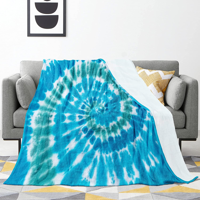 Throw Blanket Fleece Blankets Blue shipfree Tie Warm Soft Luxury Comfy Dye Fuzzy