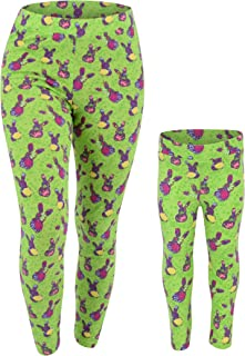 Unique Baby UB Womens Floral Easter Bunny Leggings