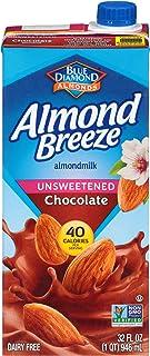 Almond Breeze Dairy Free Almondmilk, Unsweetened Chocolate, 32 FL OZ (Pack of 12)