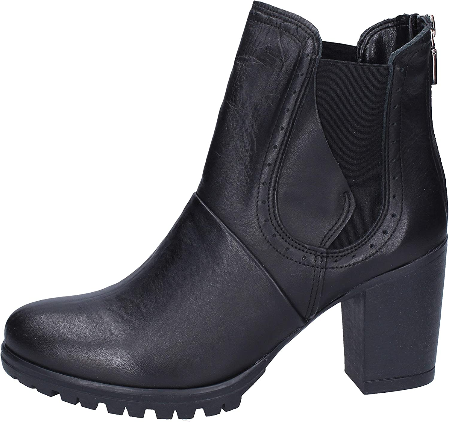 Made In  Boots Womens Leather Black