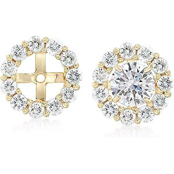 Amazon Com Ross Simons 1 50 Ct T W Diamond Earring Jackets In 14kt Yellow Gold Jewelry