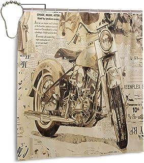 N//A Rideau de Douche Davidson Moto Cool Harley Vintage Softail Bike Chopper Classic Biker Design Bobber Tissu Polyester imperm/éable de Salle de Bain avec Crochets