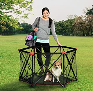 Carlson Pet Products Six Panel Pet Pen, Red