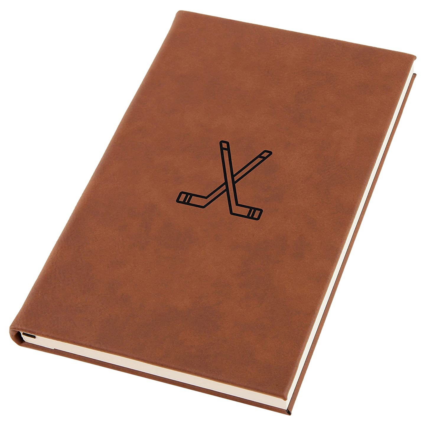 Hockey Sticks Engraved A5 Leather Journal, Notebook, Personal Diary hipjoswzivy8