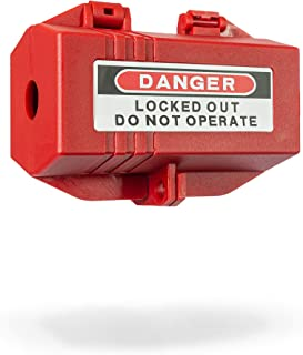TRADESAFE Plug Lock for Lockout Tagout Electrical Plug Lockout. M Size - 110 to 125V 30A. Power Cord Lock for Lock Out Tag...