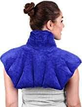Large Microwavable Heating Pad for Neck and Shoulders, Neck Relief, Stress Relief, Anxiety Relief, Neck Wrap Alternative to Rice Bags for Heat Therapy