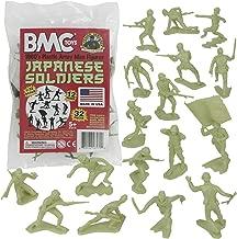 BMC Classic Marx Japanese Plastic Army Men - Green 32pc WW2 Soldier Figures