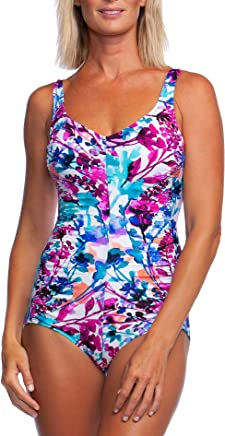f6897da020 Maxine Of Hollywood Women s V-Neck Side Shirred One Piece Swimsuit