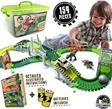 JITTERYGIT Dinosaur Train Track Toy | Jurassic Escape World | Build An Adventure Park | Fun Race Car Set | Awesome Gift for Kids | STEM Learning Toy for Toddlers, Boys And Girls Ages 3, 4, 5, 6, 7, 8+