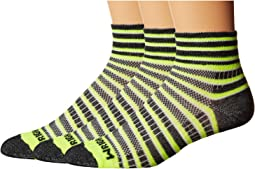Wrightsock - Coolmesh II Quarter Stripes 3 Pack