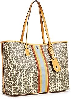 توري بورش حقيبة جلد صناعي للنساء-زهري - حقائب كبيرة توتس