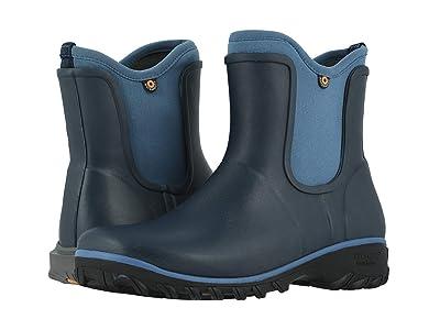 Bogs Sauvie Solid Slip-On Boot (Blue Multi) Women