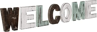MyGift Multicolor Rustic Wood Welcome Decorative Sign